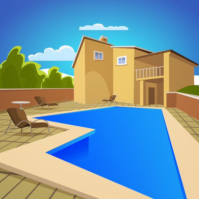 basenu domowy dopłynięcie ilustracja wektor