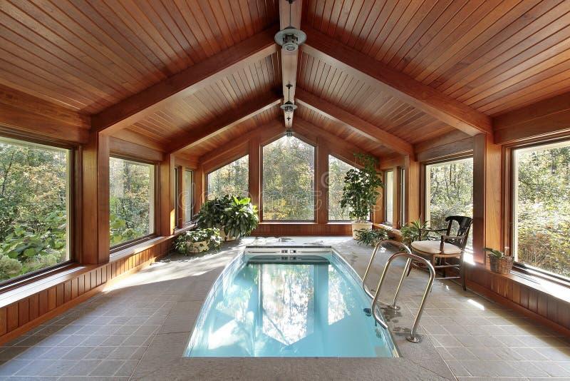 basenu domowy luksusowy dopłynięcie obraz royalty free