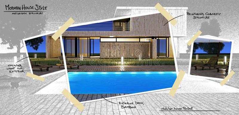basenu domowy nowożytny projekt ilustracji