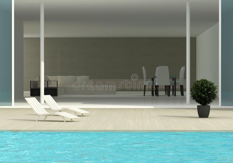 basenu dopłynięcia taras ilustracji