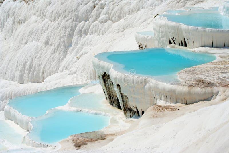 basenu pamukkale zdjęcie royalty free