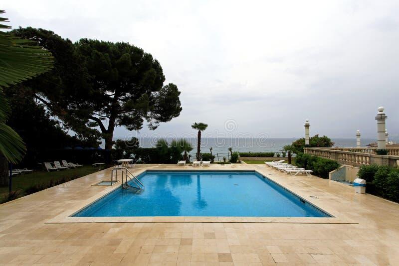basenu plenerowy dopłynięcie zdjęcie royalty free