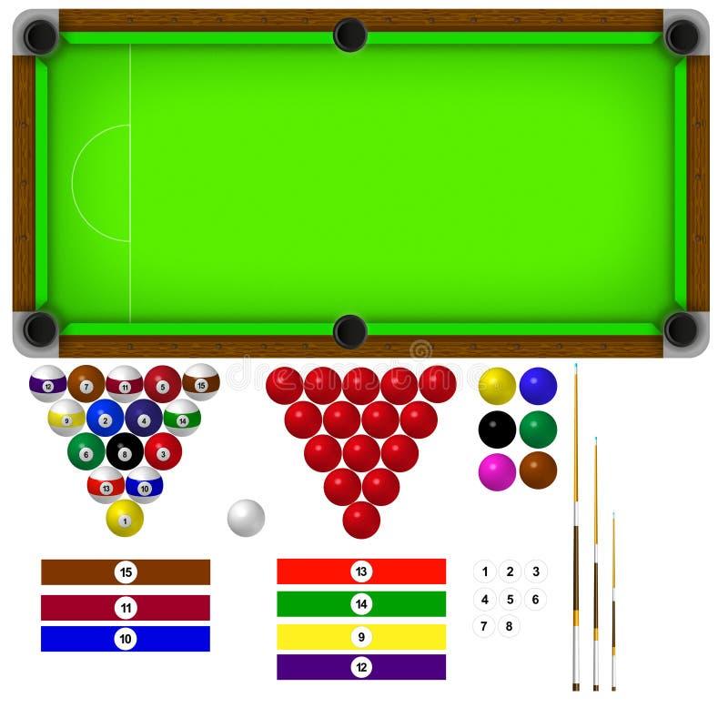 basenu stół ilustracji