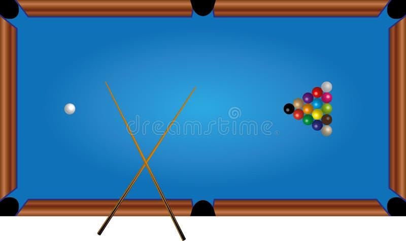 Basenu stół, okręgi, wskazówka, gra obraz stock