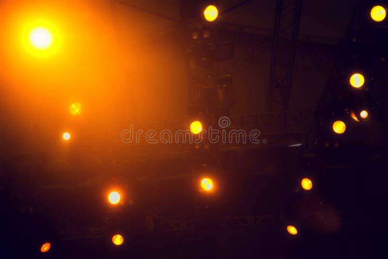 Bases de iluminación del concierto imágenes de archivo libres de regalías