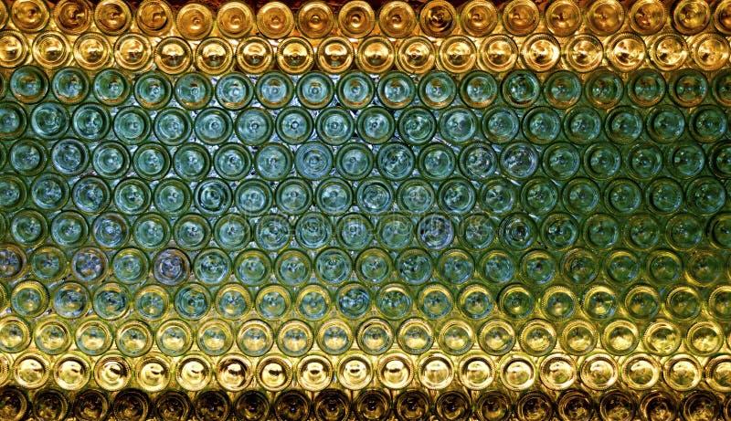 Bases de las botellas de vino fotografía de archivo