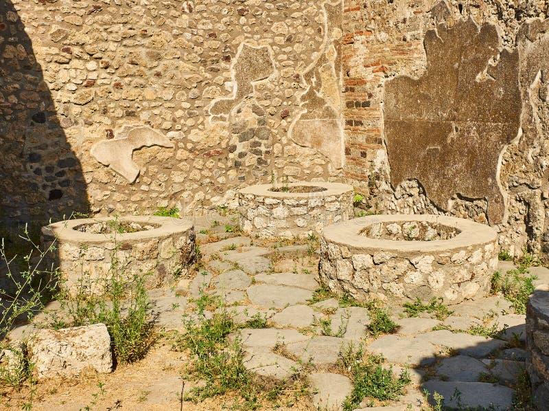 Ruins of Pompeii, ancient Roman city. Pompei, Campania. Italy. stock photography