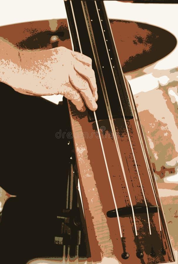 Basfiolinstrument royaltyfri foto