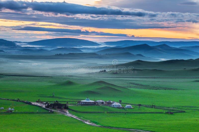 Bashang obszar trawiasty w lecie obrazy royalty free