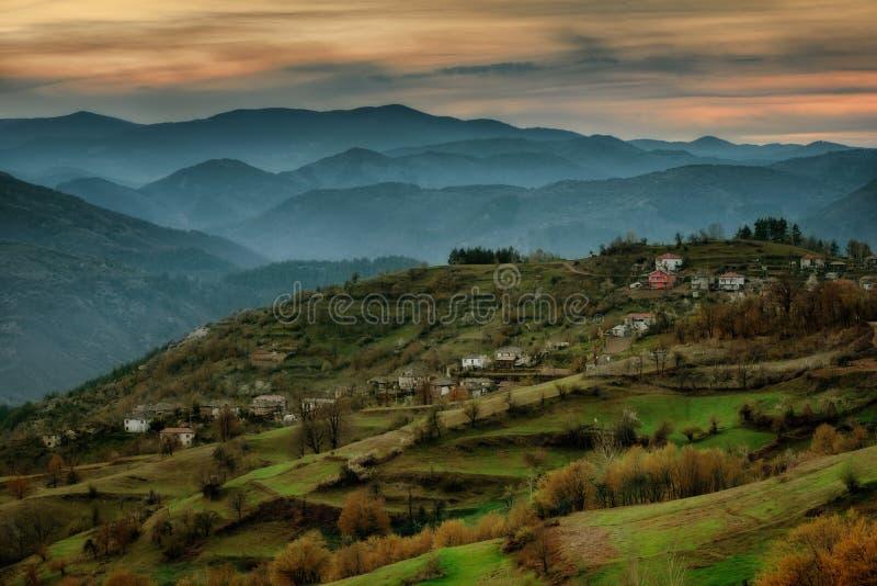 Bashevodorp, Oostelijke Rhodopes, Bulgarije stock afbeelding