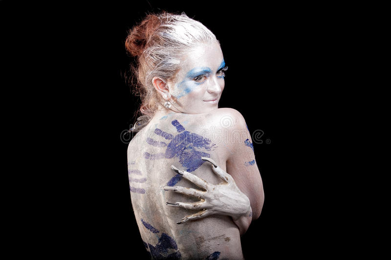 Download Bashful stock image. Image of bodypainting, black, artificial - 23188621