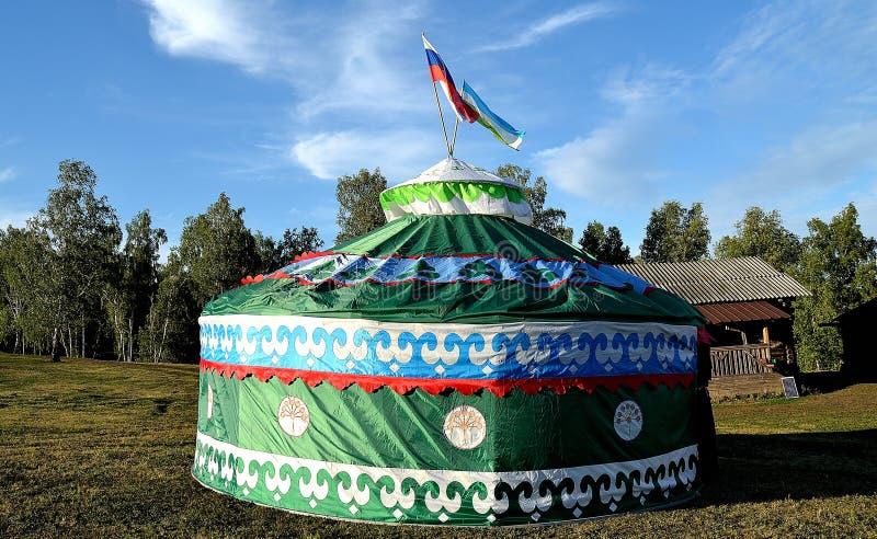 Bashkortostan tatar tält arkivbild