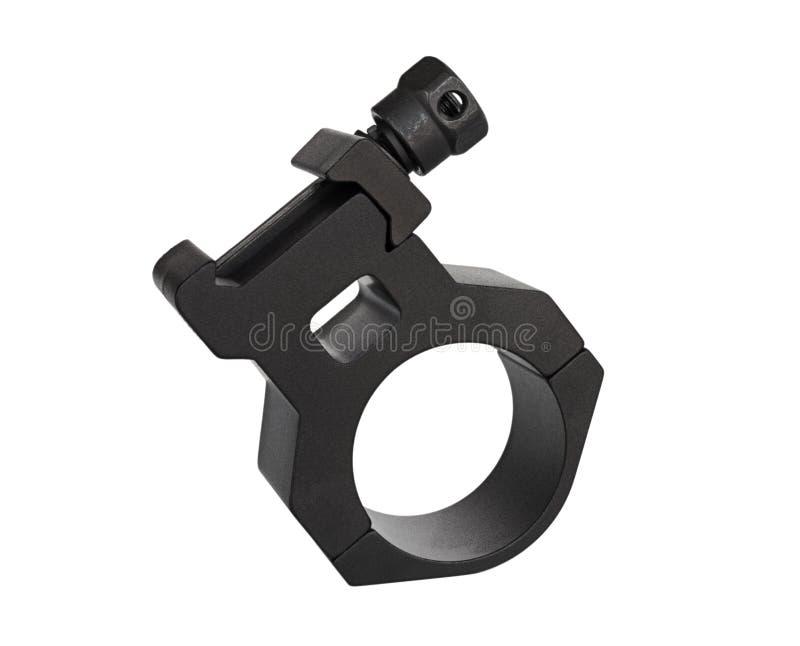 Basi ed anelli neri per una portata su bianco fotografia stock