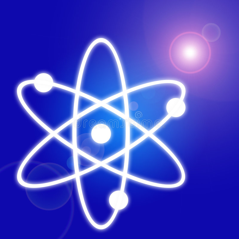 Download Basic atom stock illustration. Image of blue, theory, sign - 1088050