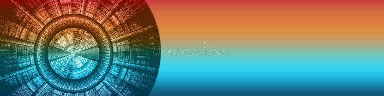 Basic banner media and technology. This basic banner / header / background has a decorative graphic design. You can relate this design to broadcasting stock illustration