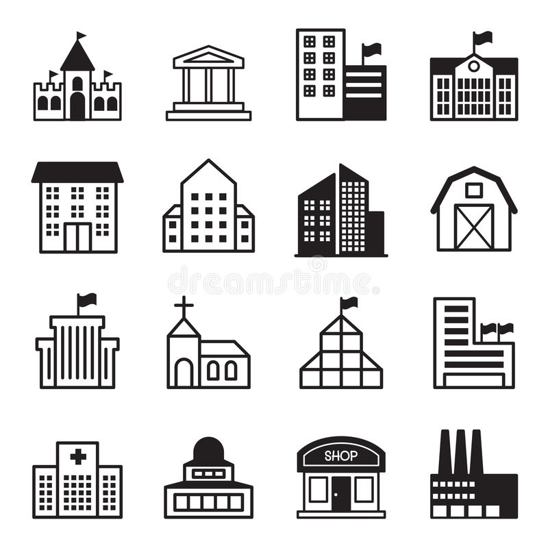 Basic building icons set stock vector illustration of for Home building basics