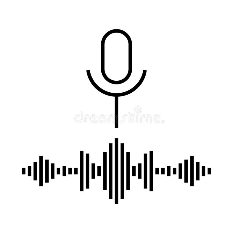 Personal assistant voice icon , vector illustration. Personal assistant voice icon, vector illustration, isolated on white stock illustration