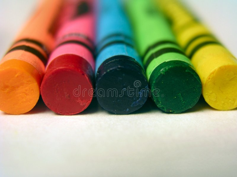 Download Basic Colors-Crayons stock photo. Image of crayon, coloring - 179134