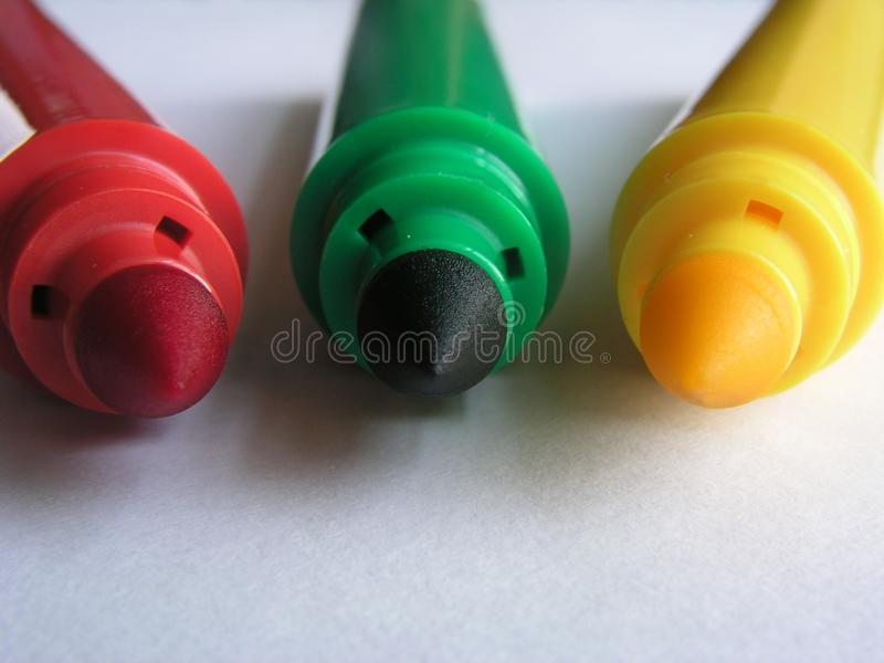 Basic Colors Ii-markers Free Stock Image
