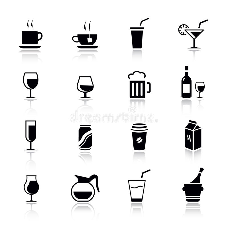 Basic - Drink Icons royalty free illustration