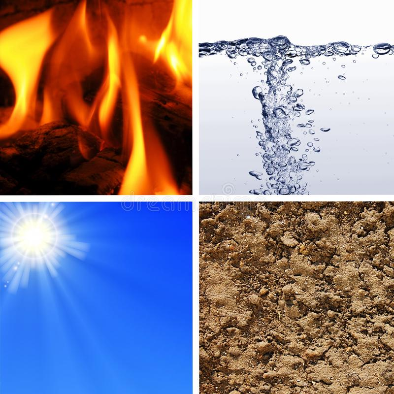 Download Basic elements of nature stock photo. Image of collage - 16462562