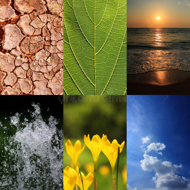 Basic elements of nature and ecology royalty free stock images