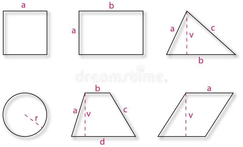 Basic Geometric Shapes Royalty Free Stock Image
