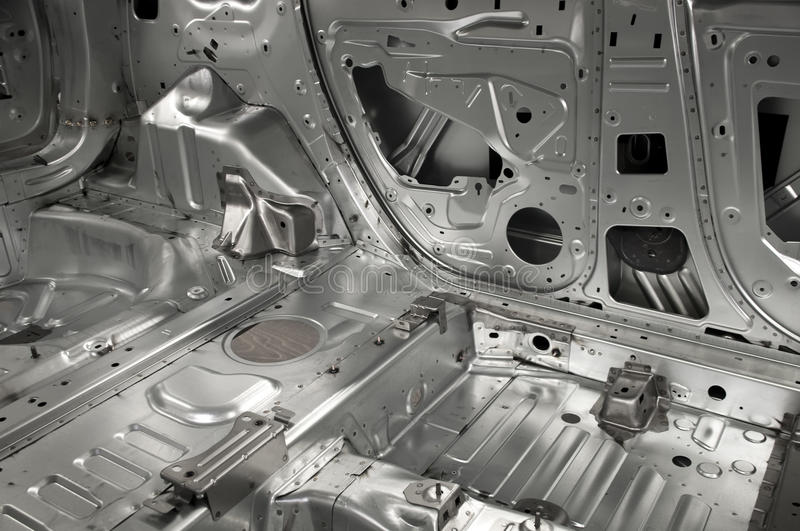 Basic interior skeleton of a car stock photo