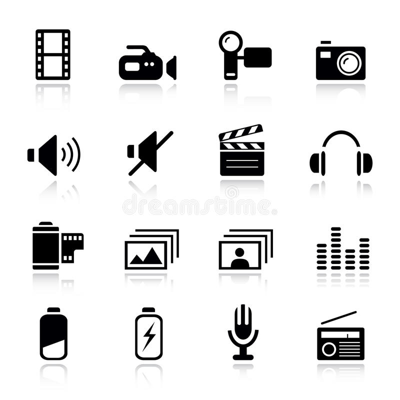 Download Basic - Media Icons stock vector. Illustration of serie - 19823000