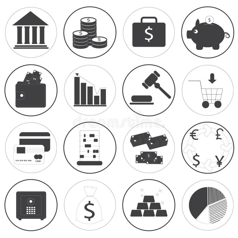 Download Basic Money Icons Vector Collection Stock Vector - Illustration: 36249472