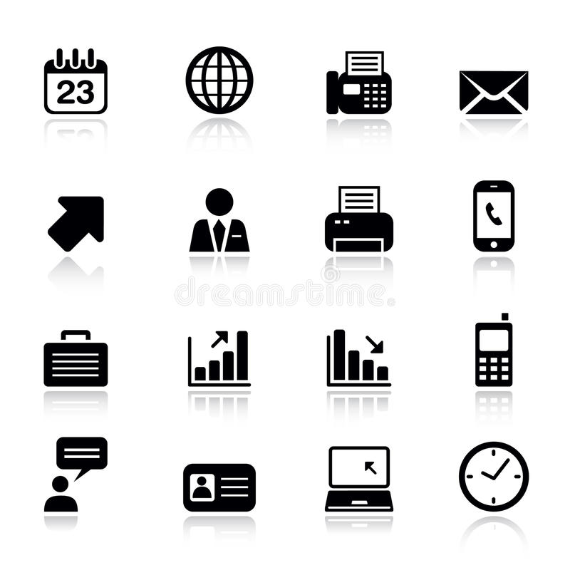 Basic -  Office And Business Icons Royalty Free Stock Images