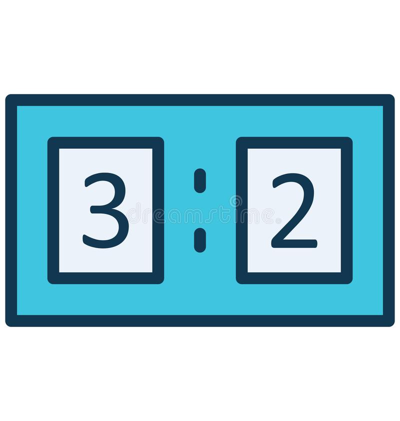 Scoreboard, Counts Vector that can be easily modified or edit stock illustration