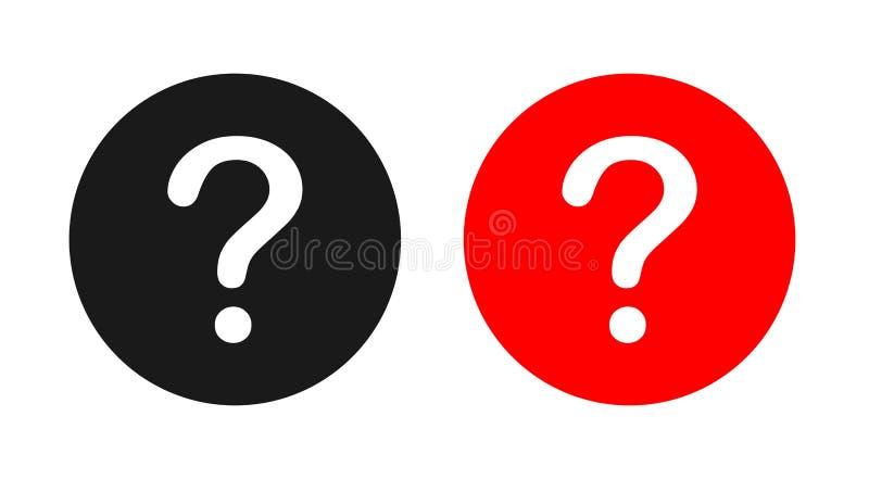 question mark icon vector illustration