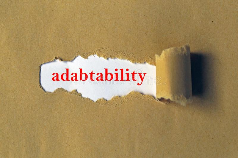 Adaptability heading. Under ripped paper royalty free illustration