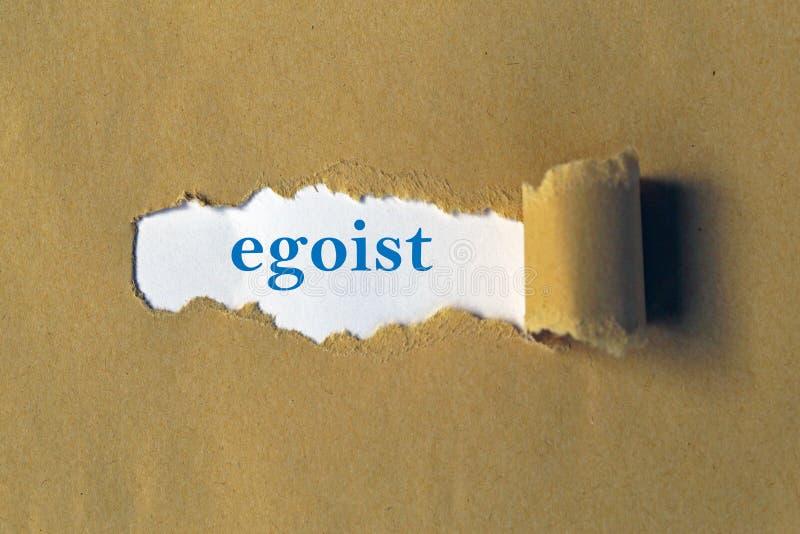 Egoist on white paper royalty free stock image