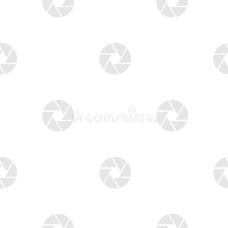 Camera shutter aperture seamless pattern. Shutter seamless vector pattern, photography pattern vector illustration