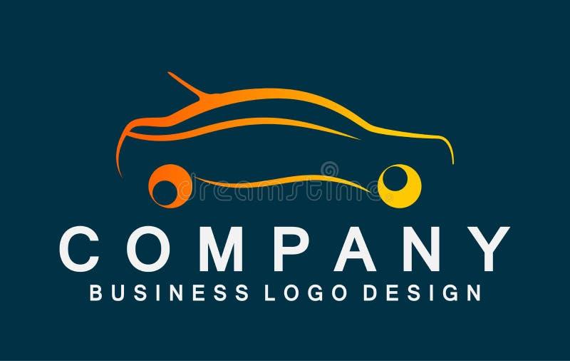 Car logo icon line art icon element vector illustrations of car on dark background royalty free illustration