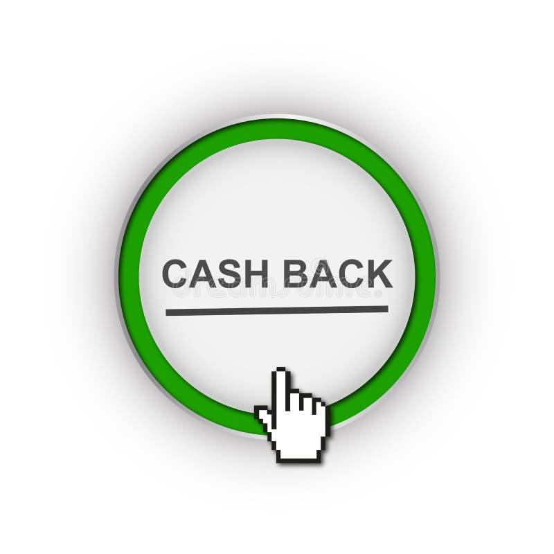 Cash back button stock illustration