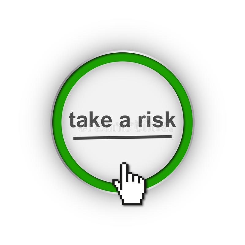 Take a risk symbol royalty free illustration