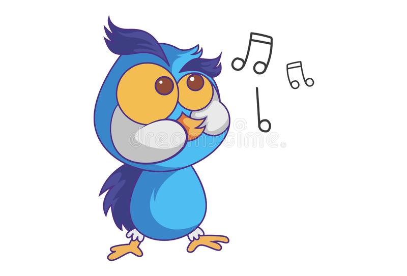 Cartoon Illustration Of Cute Owl vector illustration