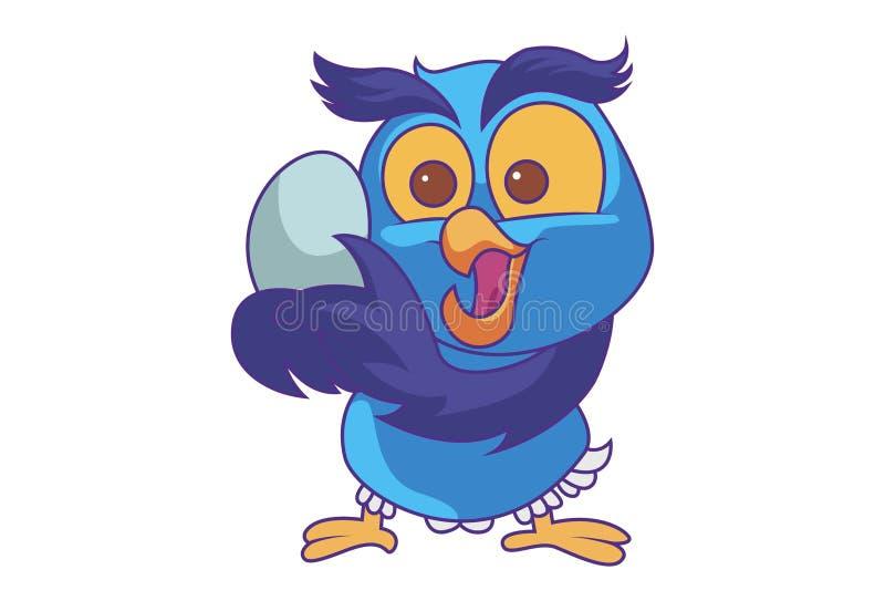 Cartoon Illustration Of Cute Owl royalty free illustration