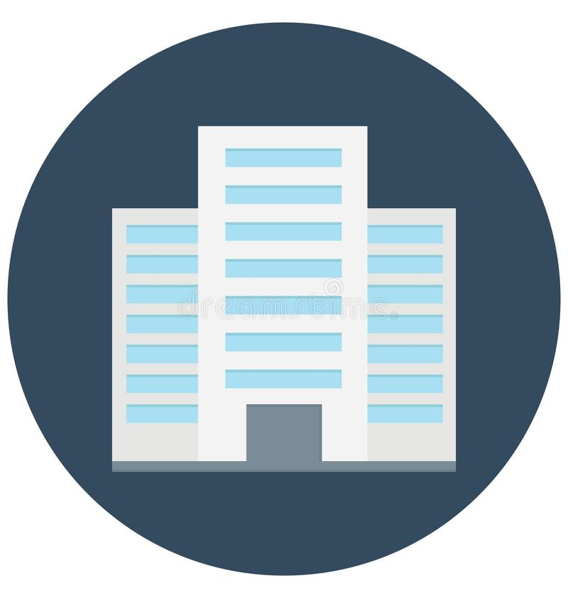 Commercial Building Color Vector icon which can be easily modified or edit vector illustration