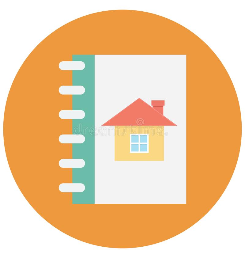 Address Book Color Vector icon which can be easily modified or edit royalty free illustration