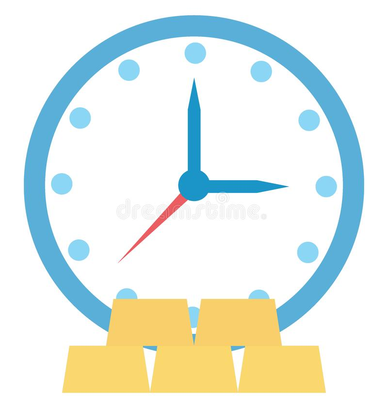 Investment Time Color Icon isolated and Vector that can be easily modified or edit stock illustration