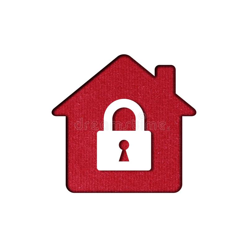 Home security icon stock illustration