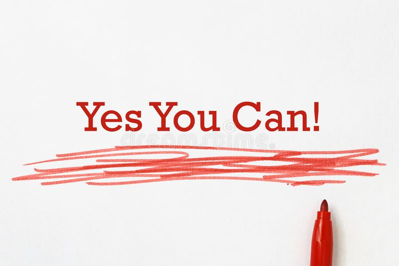 Yes You Can! stock photo