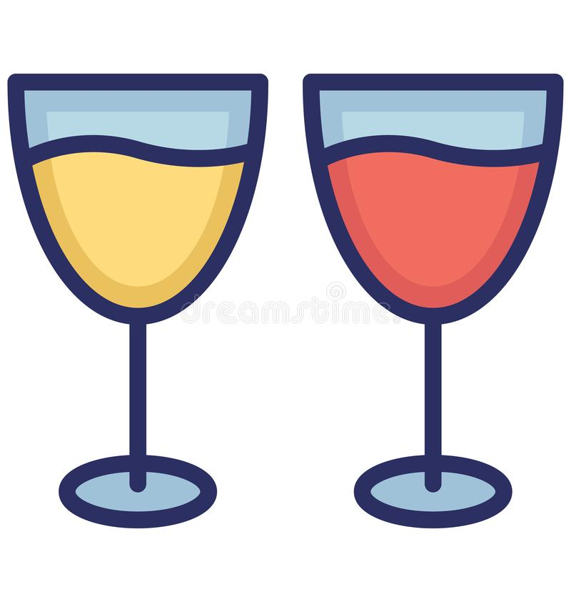 Drink Isolated Vector icon that can be easily modified or edit royalty free illustration