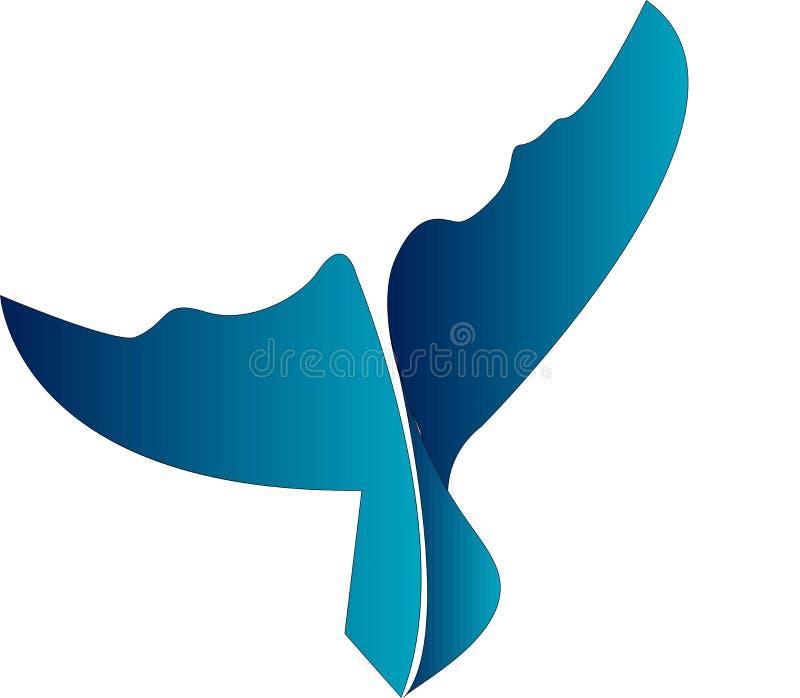 Whale tales icon. Fish, underwater, logo, design, vector, animal vector illustration