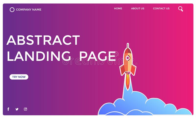 Abstract landing page design -abstract rocket design. Abstract landing page design you can use design web pages,landing pages and banners it is 100% and use royalty free stock images
