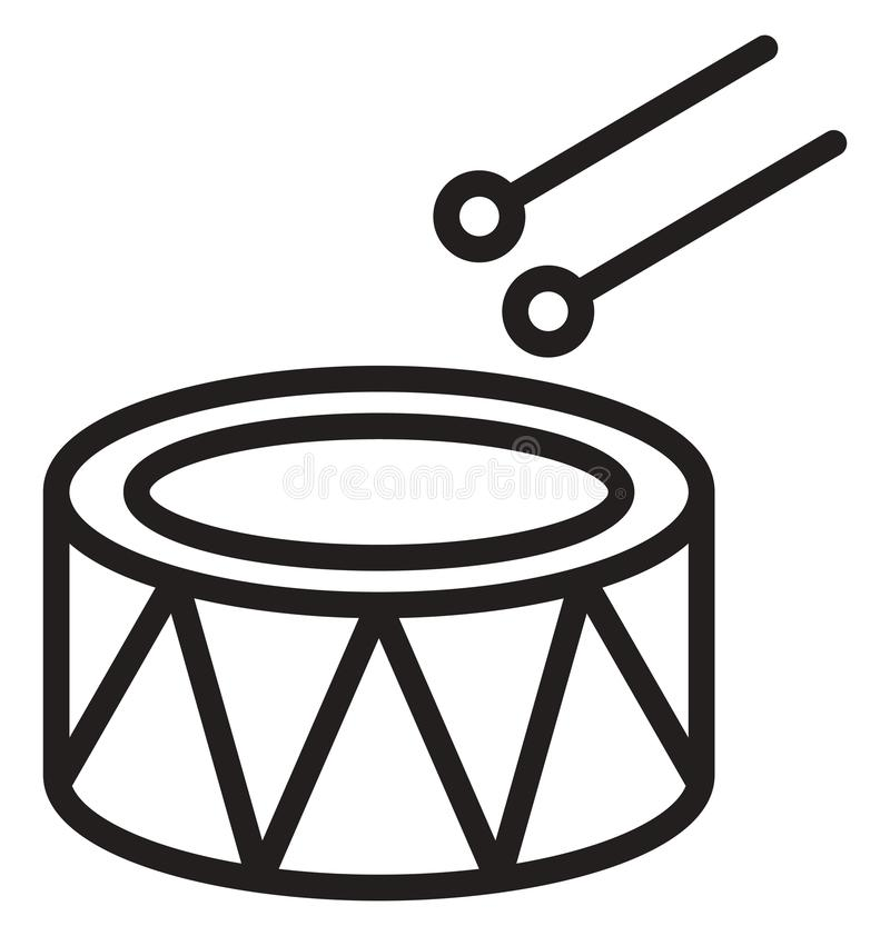 Childrens drum Vector icon which can be easily modified or edit vector illustration